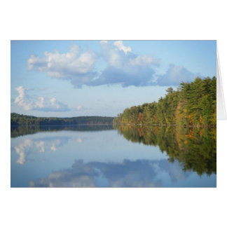 """""""Autumn Reflections at Long Pond"""" Card"""