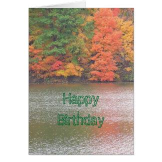 Autumn Reflections (photog) Happy Birthday Card