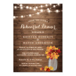 Autumn Rehearsal Dinner Rustic Wood String Lights 13 Cm X 18 Cm Invitation Card