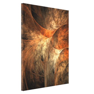 Autumn Riches Fractal Art Canvas Print