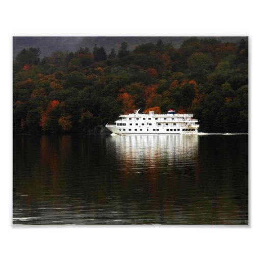 Autumn River Cruise Photographic Print