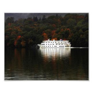 Autumn River Cruise Photographic Print