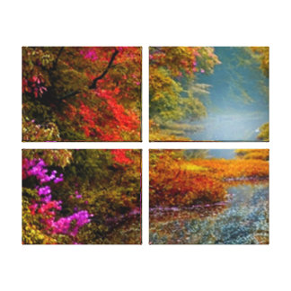 Autumn River Glow Canvas Print