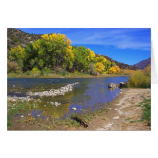 Autumn River in  Taos New Mexico Greeting Card