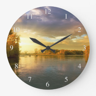 Autumn River Large Clock