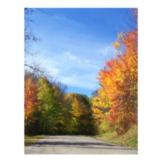 autumn road 21.5 cm x 28 cm flyer