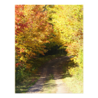 Autumn road personalized flyer