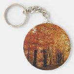 Autumn Road Keychain
