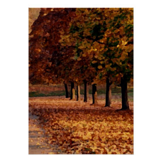 Autumn Roadway Posters