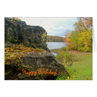 Autumn Rock Best Friend Birthday Card