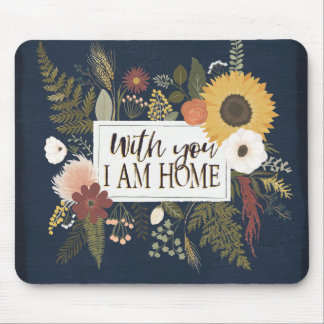 Autumn Romance III | With You I Am Home Mouse Mat