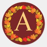 Autumn Round Stickers