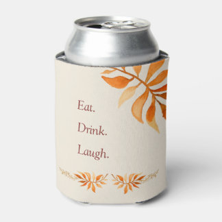 Autumn rust leaves eat drink laugh party can cooler