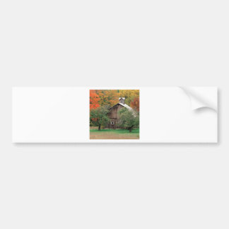 Autumn Rustic Barn Leelanau County Michigan Bumper Stickers