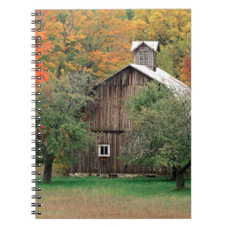 Autumn Rustic Barn Leelanau County Michigan Spiral Notebook