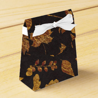 Autumn Rustic Golden Leaves Elegant Fall Wedding Favour Box