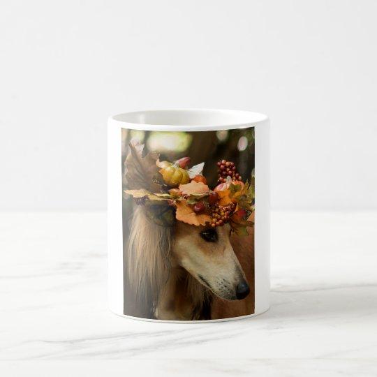 Autumn Saluki Coffee Mug