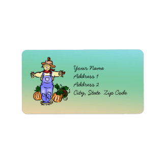 Autumn Scarecrow Address Label