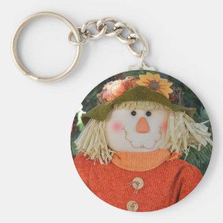 Autumn Scarecrow Doll Key Ring