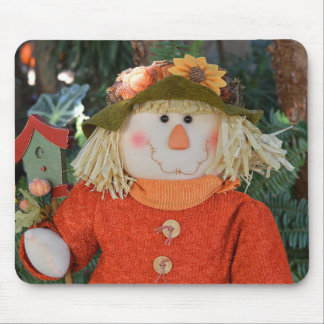 Autumn Scarecrow Doll Mouse Mat