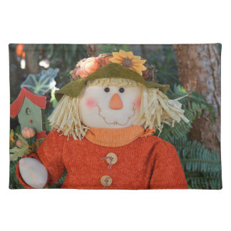 Autumn Scarecrow Doll Placemat
