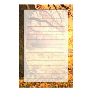 Autumn Scene Custom Stationery