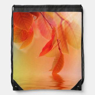 Autumn Scene Drawstring Bag