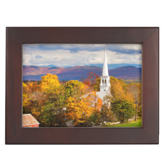 Autumn Scene In Peacham, Vermont, USA Keepsake Boxes