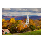 Autumn Scene In Peacham, Vermont, USA Poster