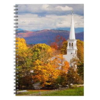 Autumn Scene In Peacham, Vermont, USA Spiral Notebook