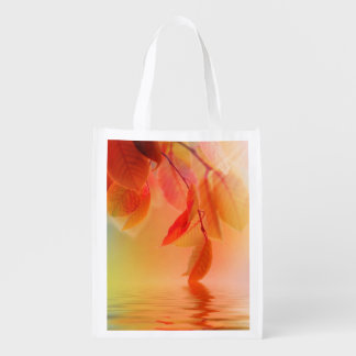 Autumn Scene Reusable Grocery Bag