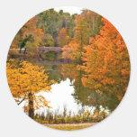 Autumn Scene Round Sticker