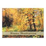 Autumn Scenery Painting Thanksgiving Invitations