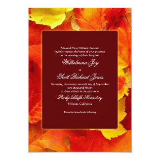 Autumn Scent Fall Wedding Custom Invitation