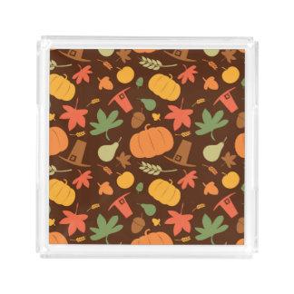 Autumn seamless background, Thanksgiving day. Acrylic Tray