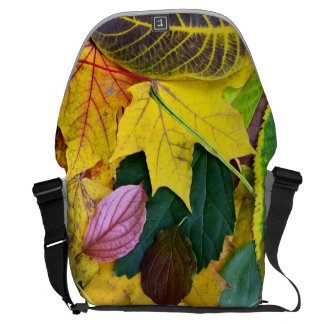 autumn season tree leaf texture pattern background commuter bags
