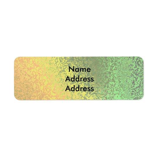 Autumn Shades of Green Yellow Return Address Lab