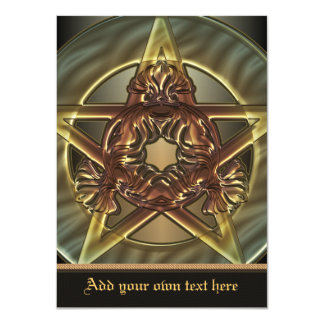 Autumn Shades Pentacle Medium Invitation
