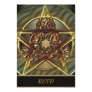 Autumn Shades Pentacle RSVP Cards 9 Cm X 13 Cm Invitation Card