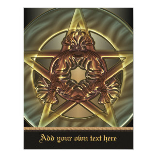 Autumn Shades Pentacle Small Invitation