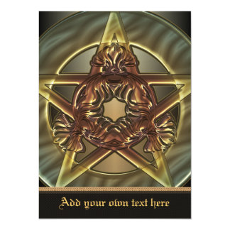 Autumn Shades Pentacle X-Large Invitation