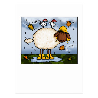 autumn sheep postcards