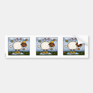 autumn sheep scrapbook sticker