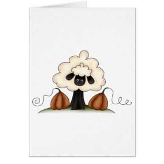 Autumn Sheep · Sheep & Pumpkins Card
