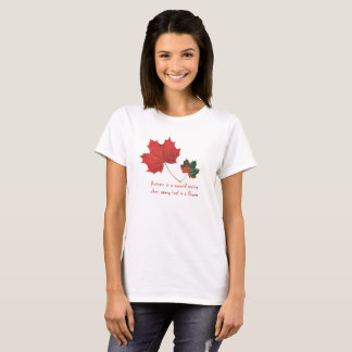 Autumn Shirt with Autumn Quote - Autumn Leaves