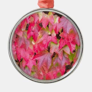 Autumn Silver-Colored Round Decoration