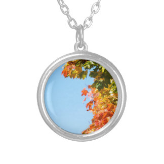 Autumn Silver Plated Necklace