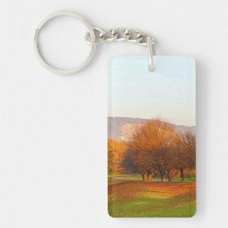 Autumn Single-Sided Rectangular Acrylic Key Ring