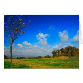 [Autumn Sky] Blue Clouds Fall [Blank Inside] Card