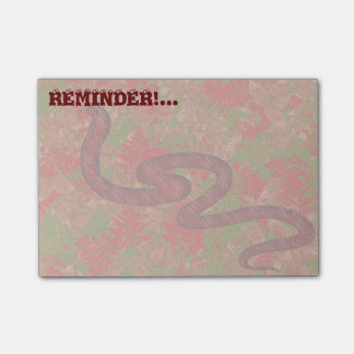 Autumn snake post-it notes